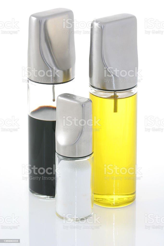 Oil vinega and salt royalty-free stock photo