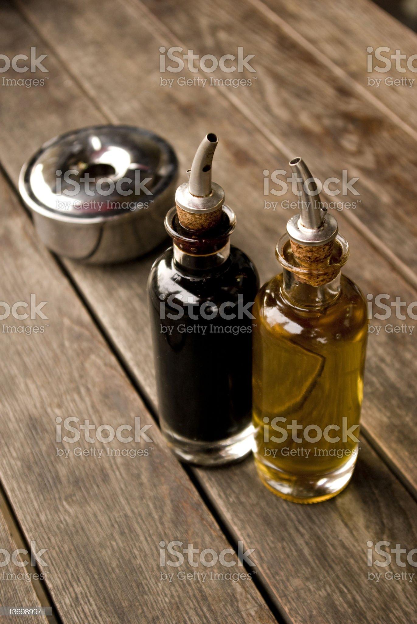 Oil & Vinegar royalty-free stock photo