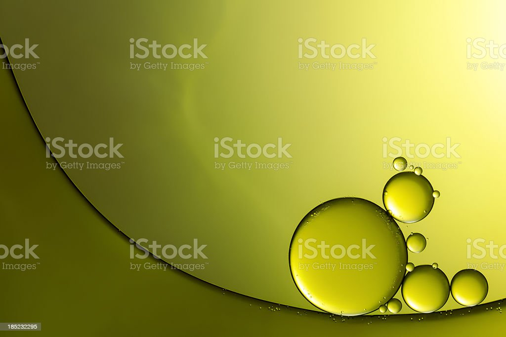 Oil & Water - Abstract Background Green Macro stock photo