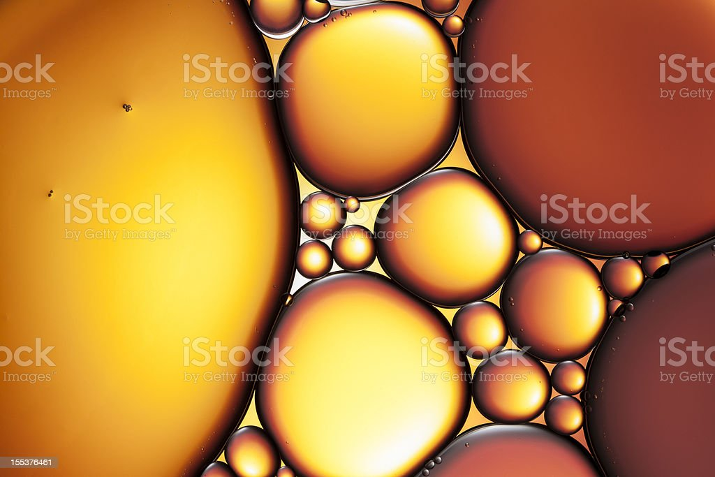 Oil & Water - Abstract Background Red Macro royalty-free stock photo