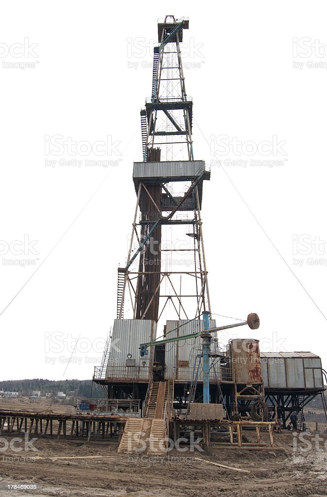oil well derrick royalty-free stock photo