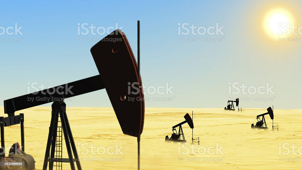 Oil well drill stock photo