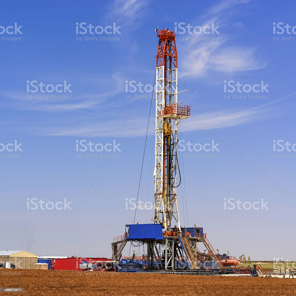 oil well drilling rig near Midland Texas royalty-free stock photo