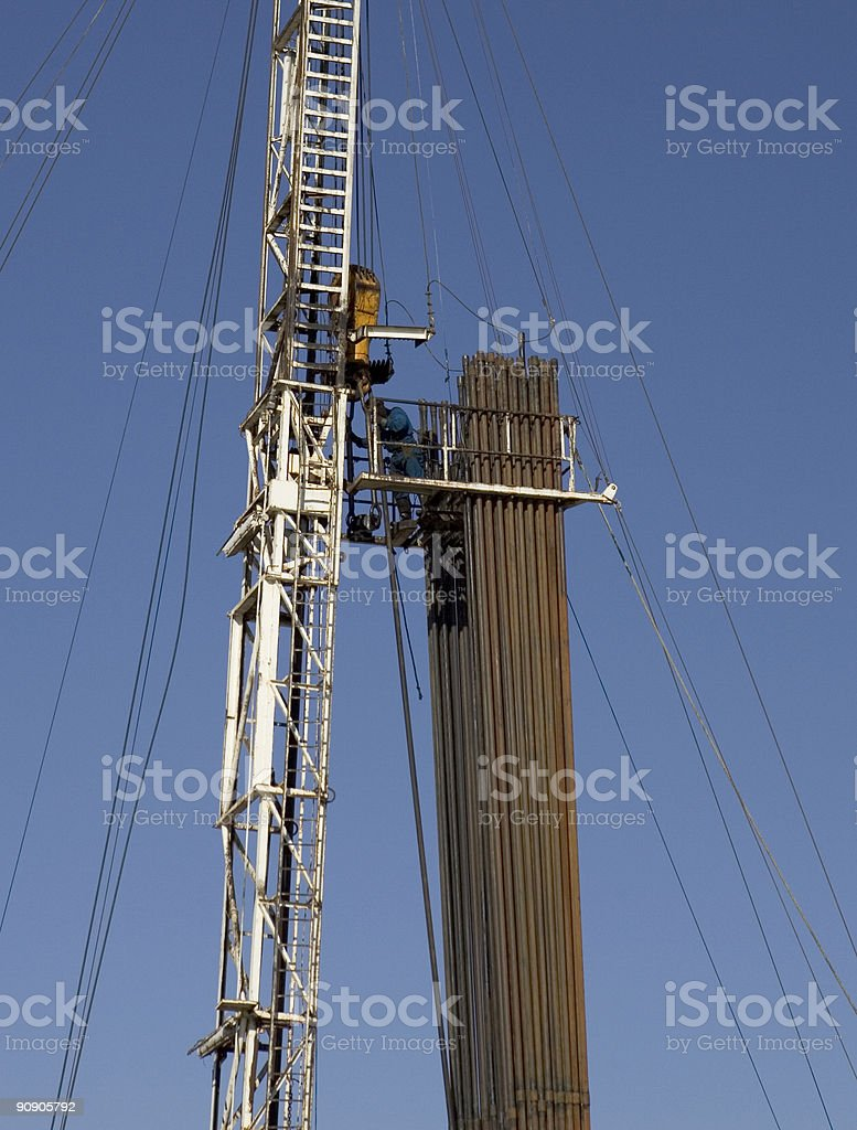Oil Well Drilling Rig royalty-free stock photo