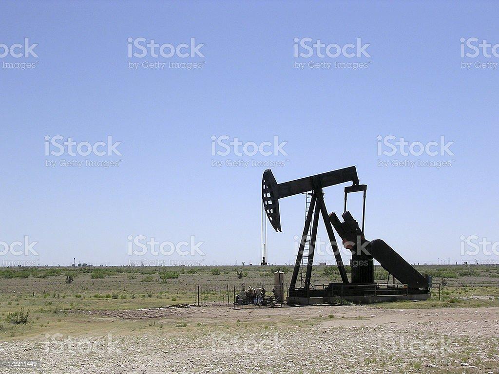 Oil well near Plano, Texas stock photo