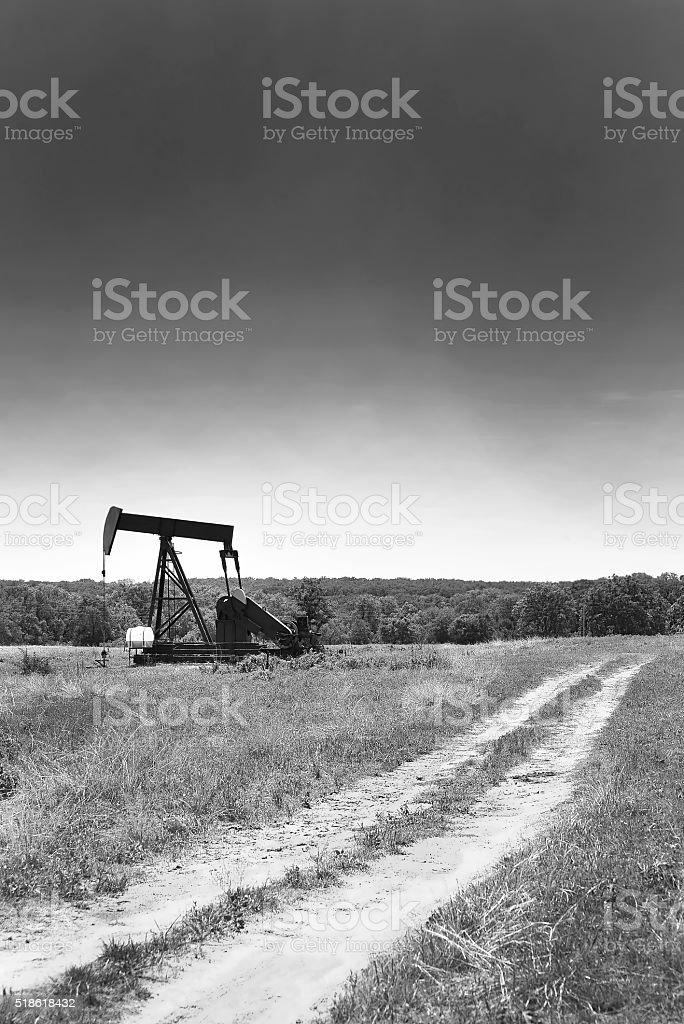 Oil Well Pumper. stock photo