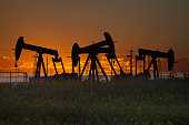 Oil Well Silhouettes
