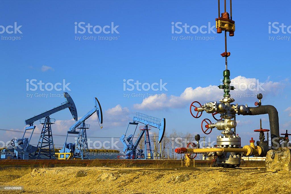 Oil Wellhead stock photo