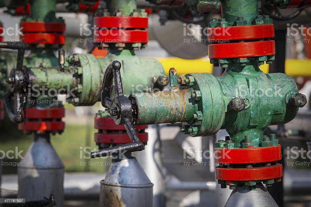 Oil Wellhead royalty-free stock photo