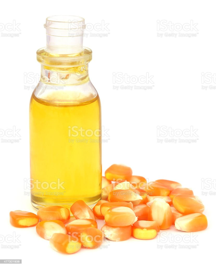 Oil with corns stock photo