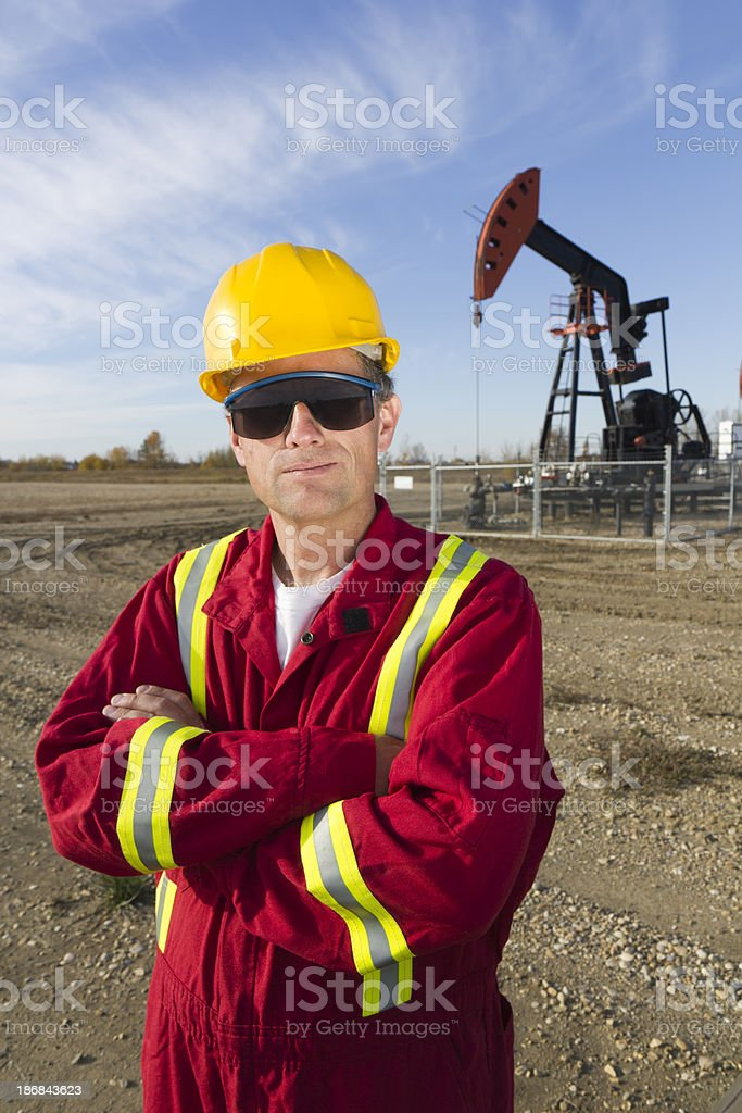 Oil Worker and Jack royalty-free stock photo
