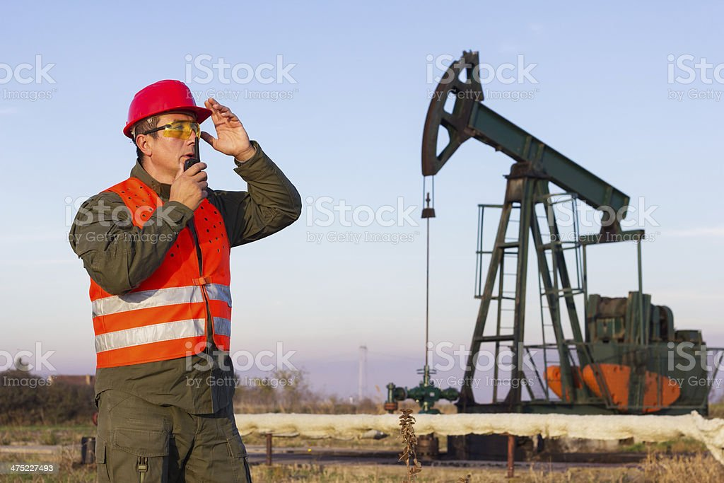 Oil worker royalty-free stock photo