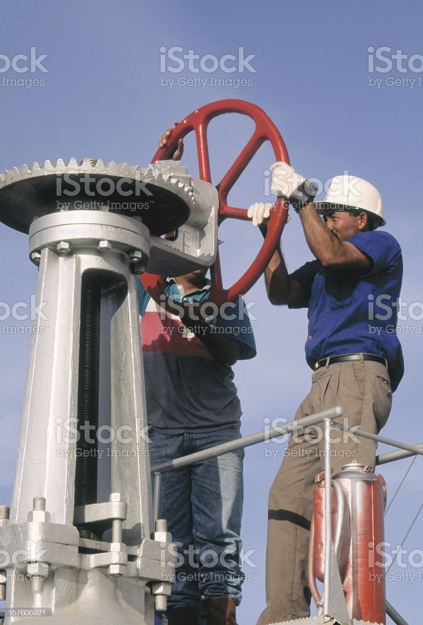 Oil Workers royalty-free stock photo