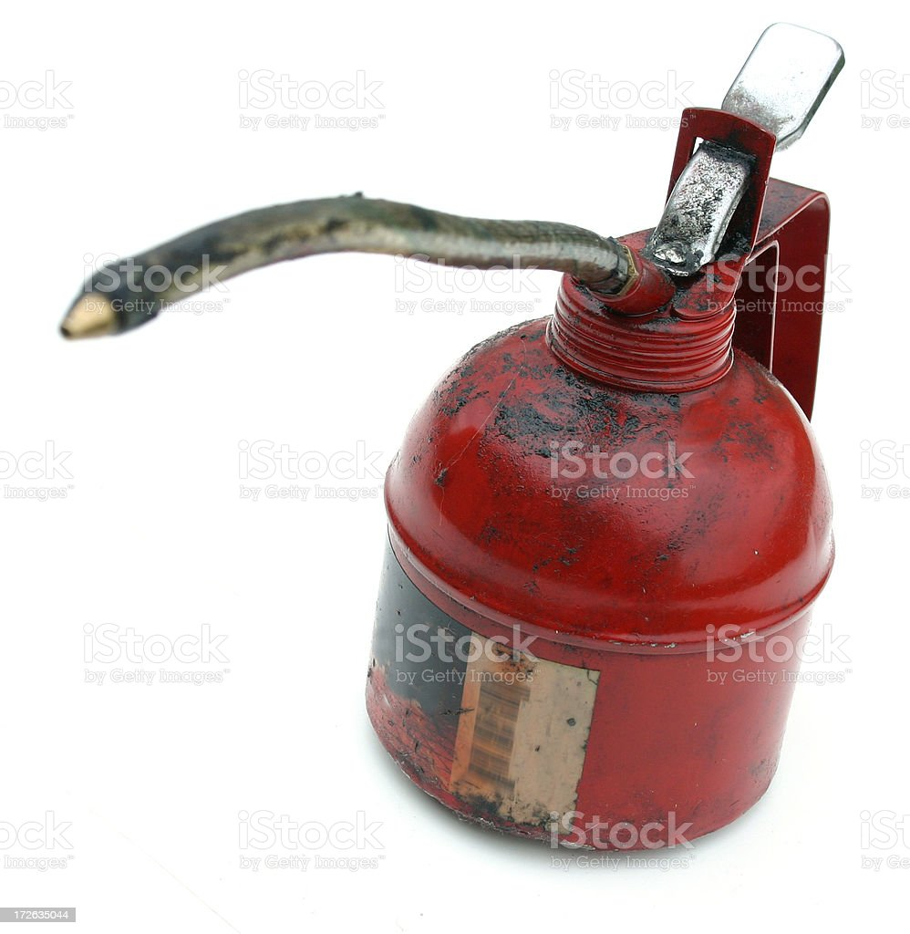 oilcan with spout stock photo