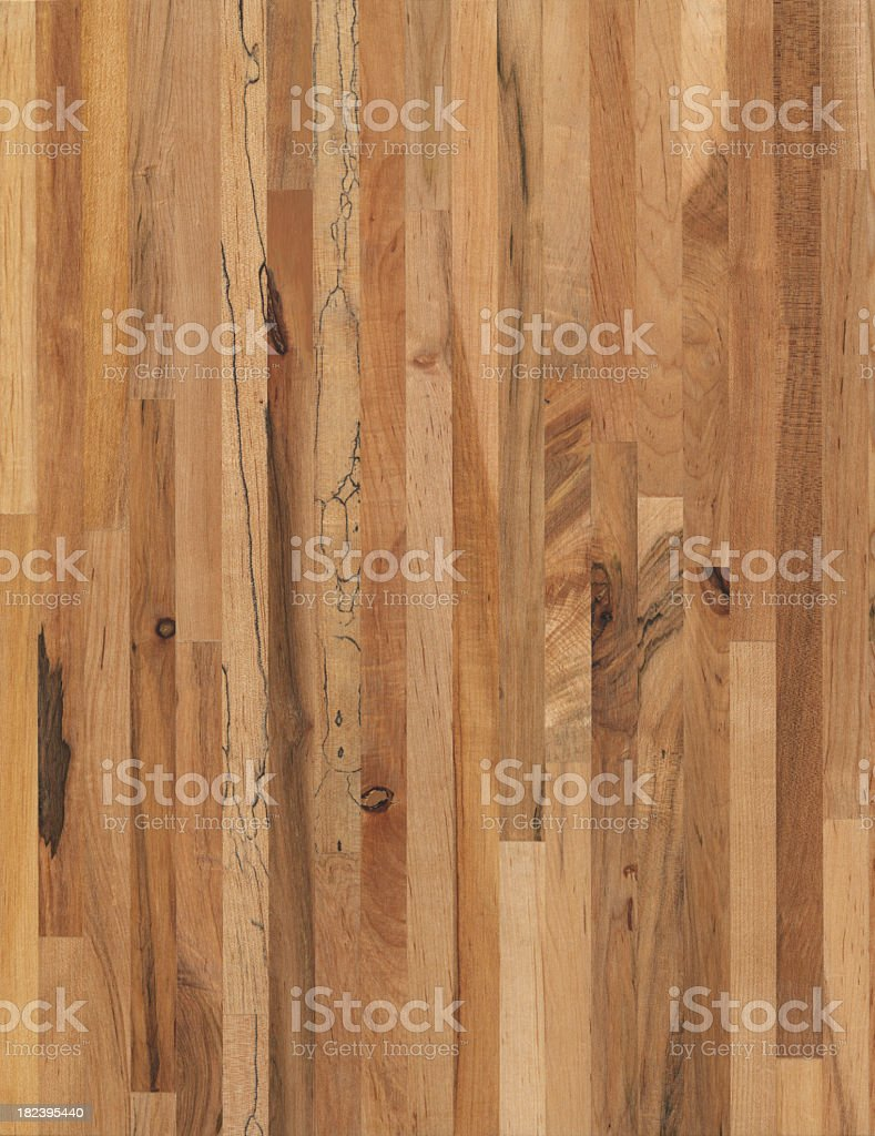 Oiled Maple Wood grain Butcher Block background royalty-free stock photo