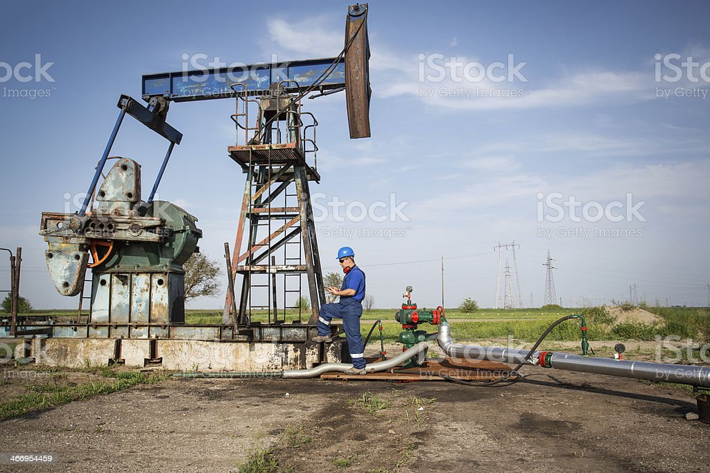 Oilfield Engineer royalty-free stock photo