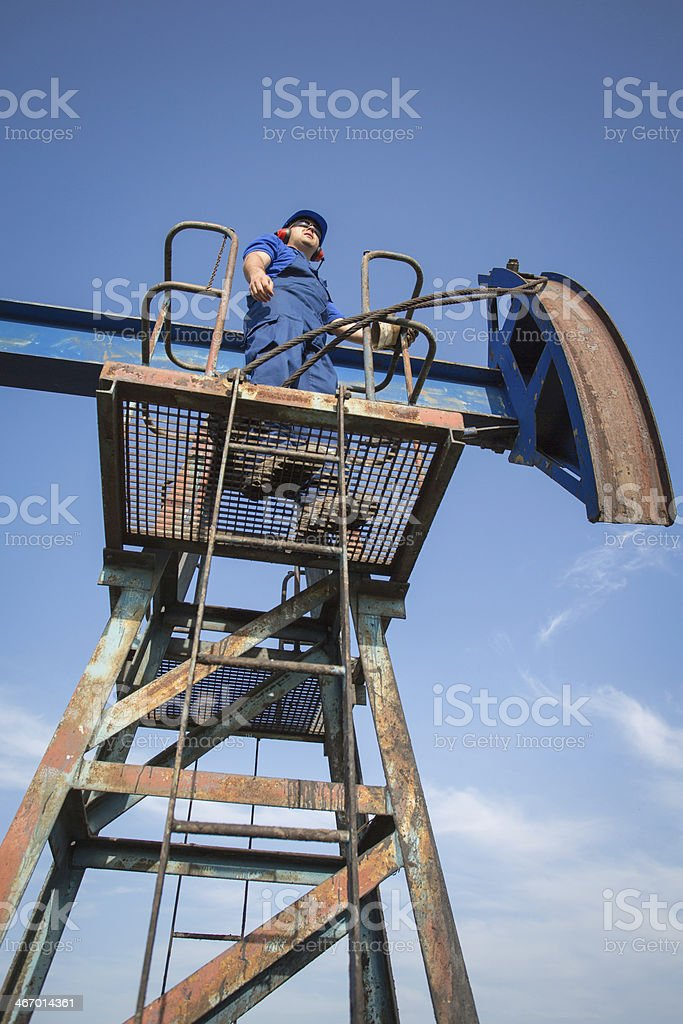 Oilfield Engineer royalty-free stock photo