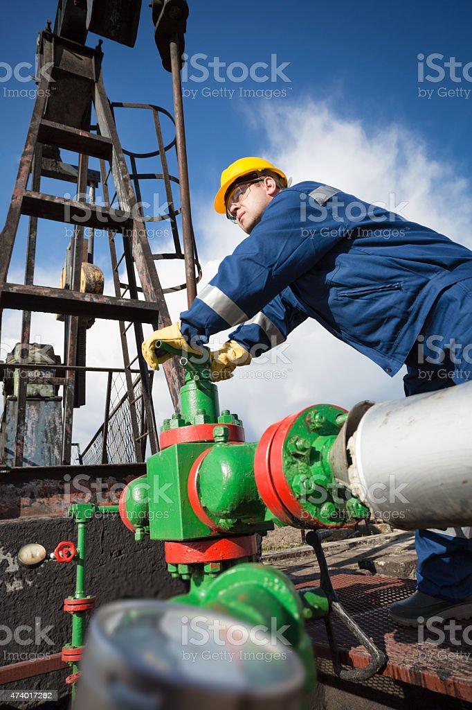 Oilfield Engineer stock photo