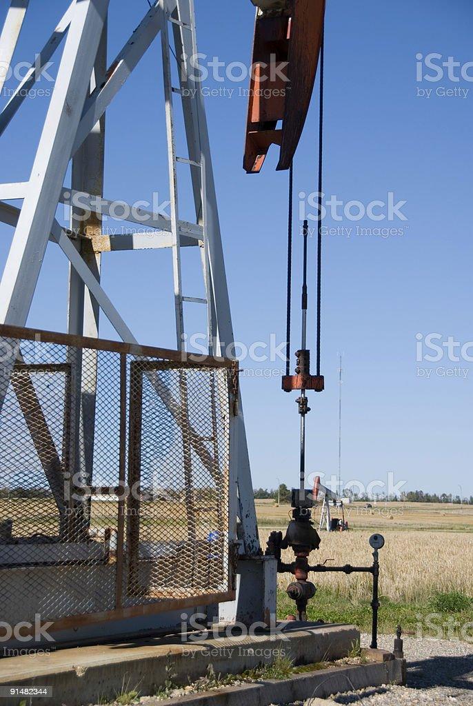 Oilfield in Alberta royalty-free stock photo