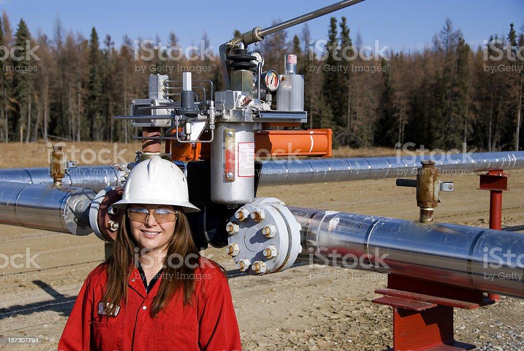 Oilfield royalty-free stock photo