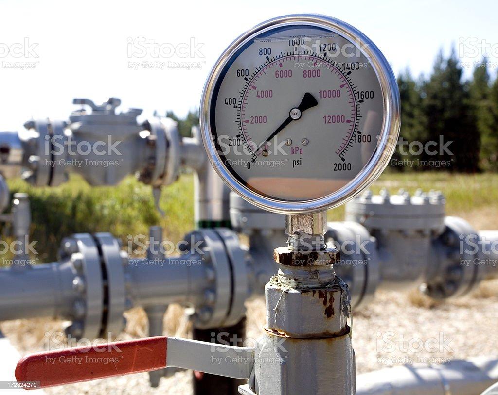 Oilfield (ten) stock photo