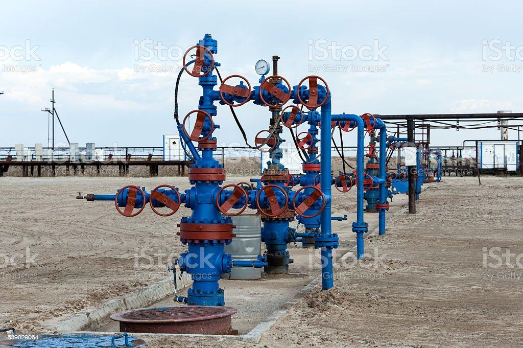 Oilfield. stock photo