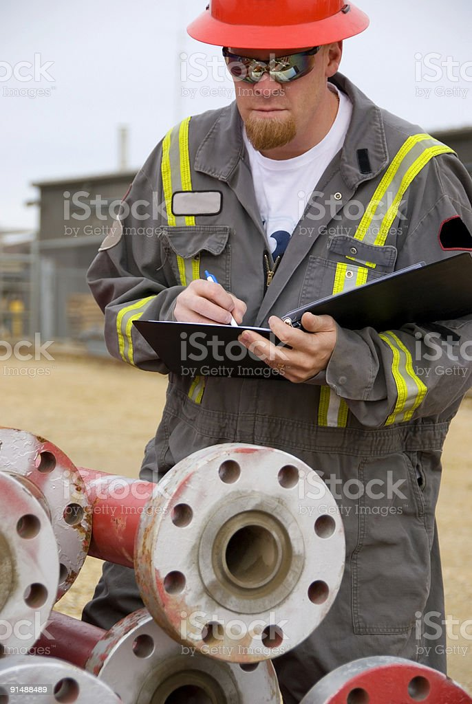 Oilfield royalty-free stock photo