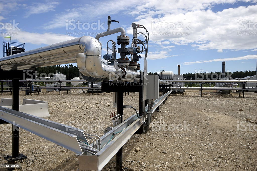 Oilfield - Pipes stock photo