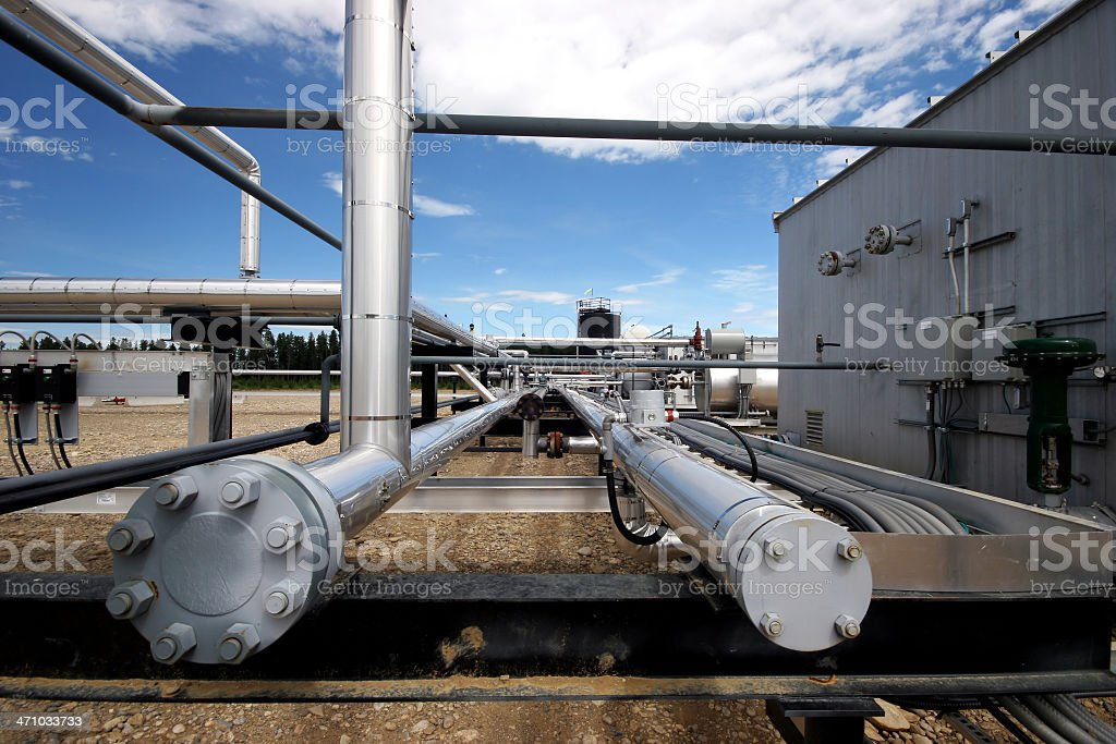 Oilfield - Piping royalty-free stock photo