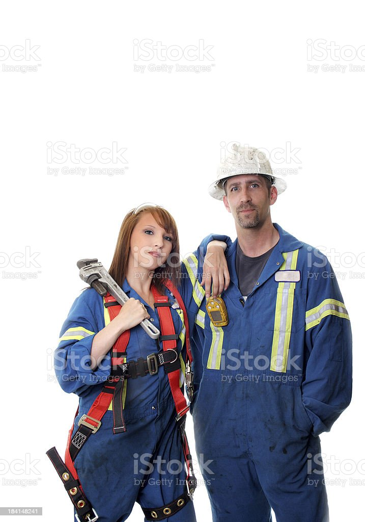 Oilfield Safety royalty-free stock photo
