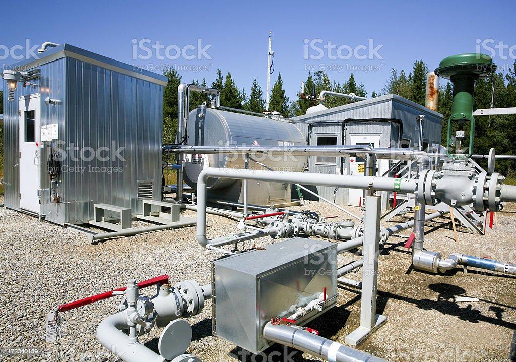 Oilfield Site stock photo