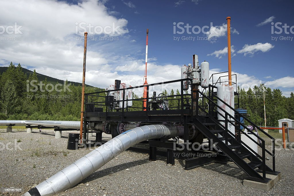 Oilfield - Well royalty-free stock photo
