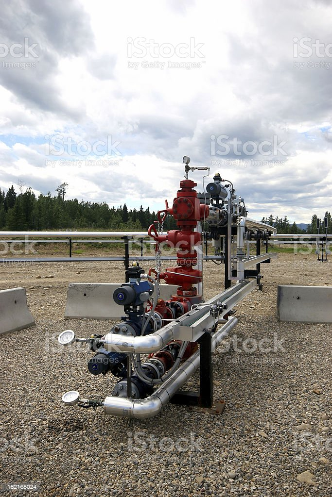 Oilfield - Wellhead stock photo