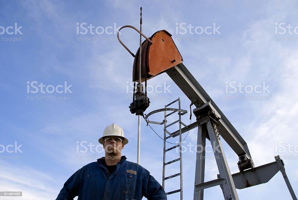 Oilfield Worker royalty-free stock photo