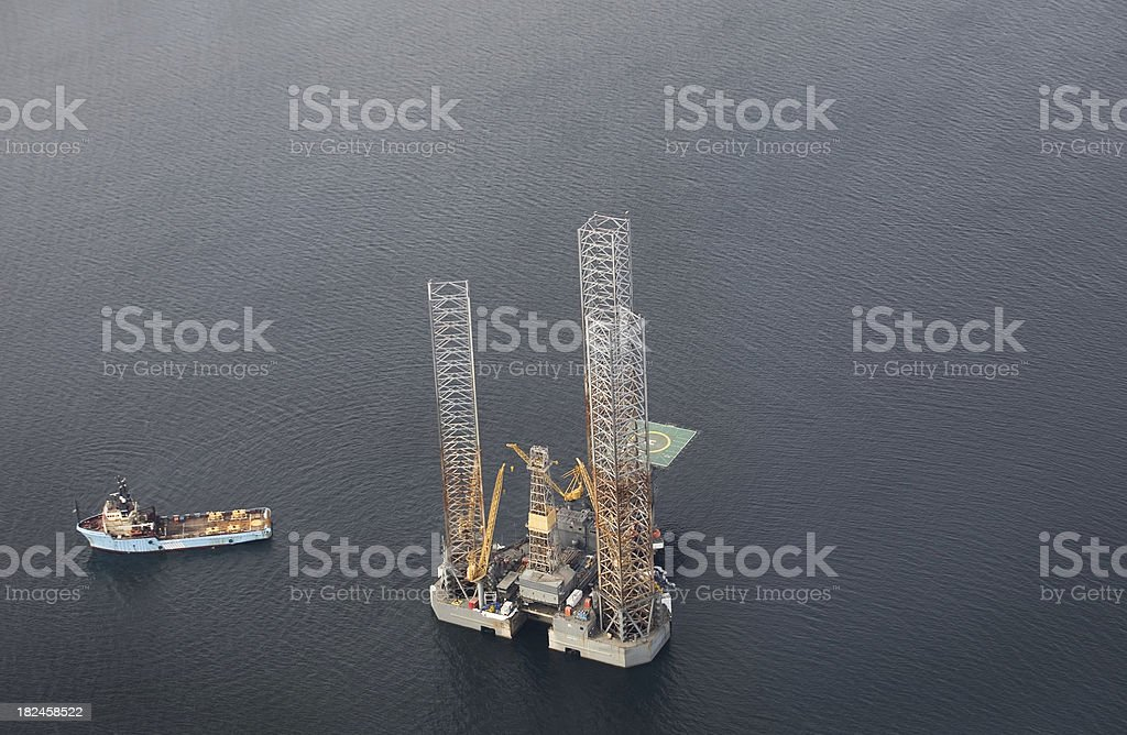 Oil/Gas Rig royalty-free stock photo