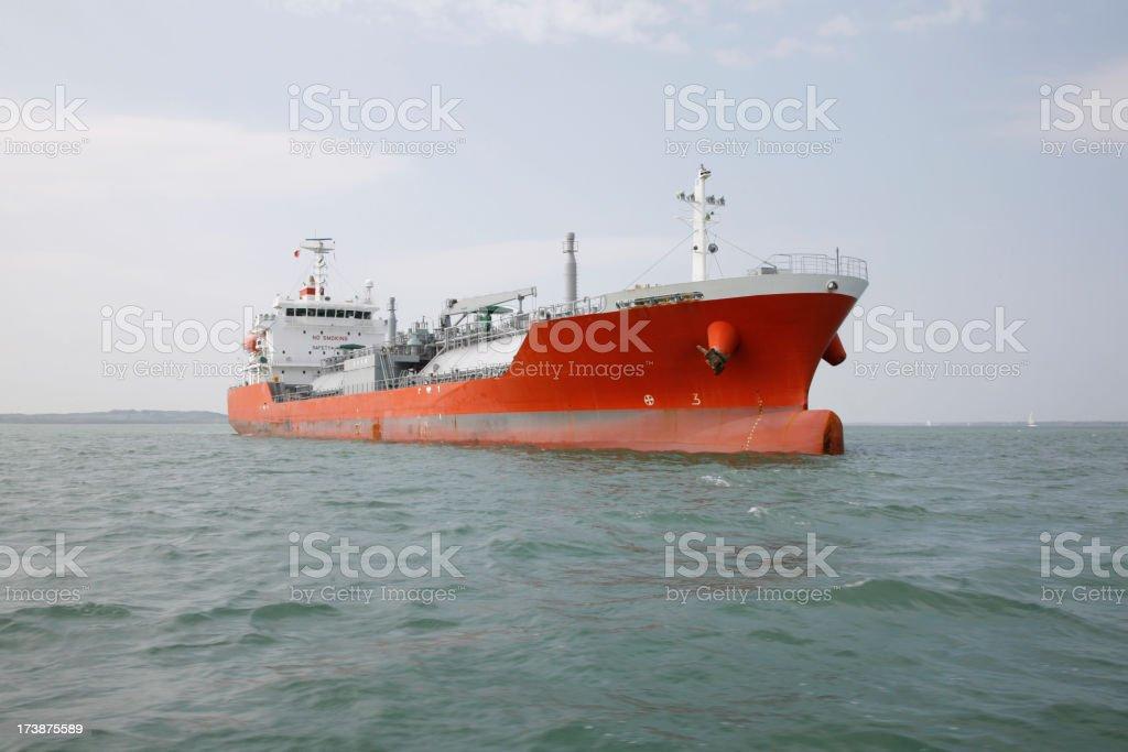 Oil/Gas Super Tanker stock photo