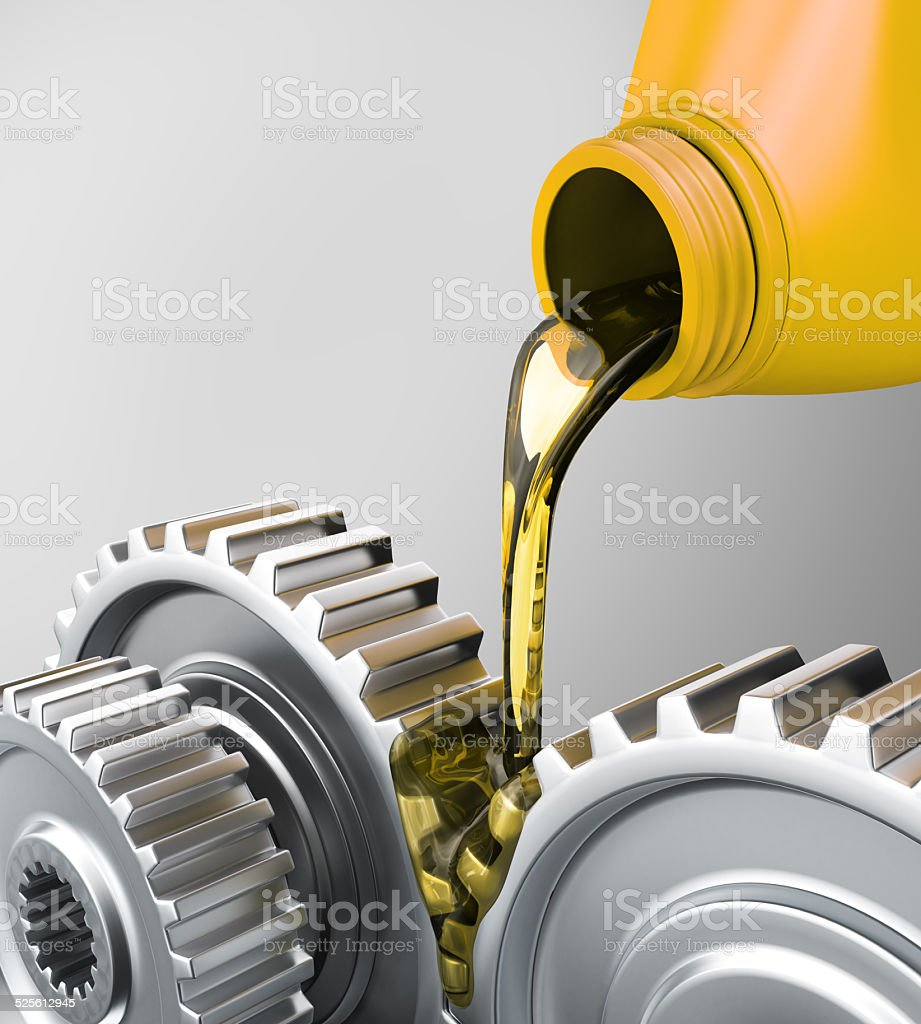 Oiling Gears stock photo