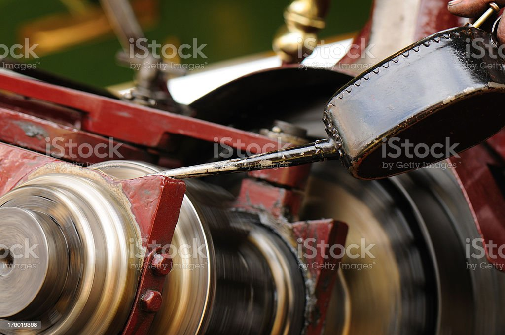 Oiling the Machinery royalty-free stock photo