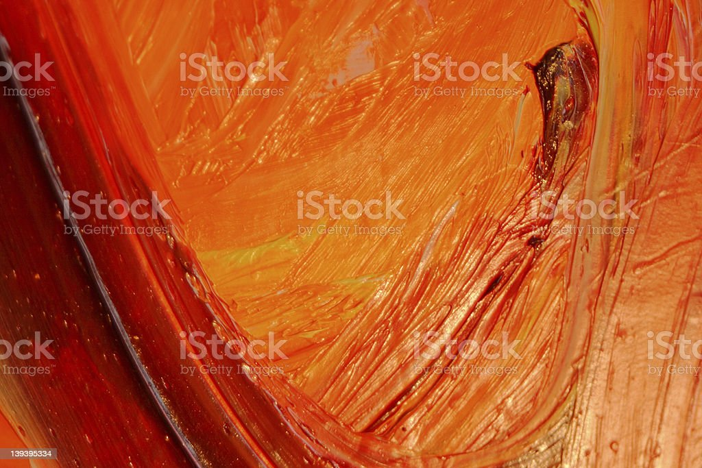 #4 Oilpainting Red Orange Yellow royalty-free stock photo