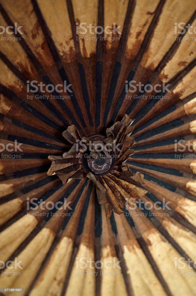 oil-paper umbrella, China stock photo
