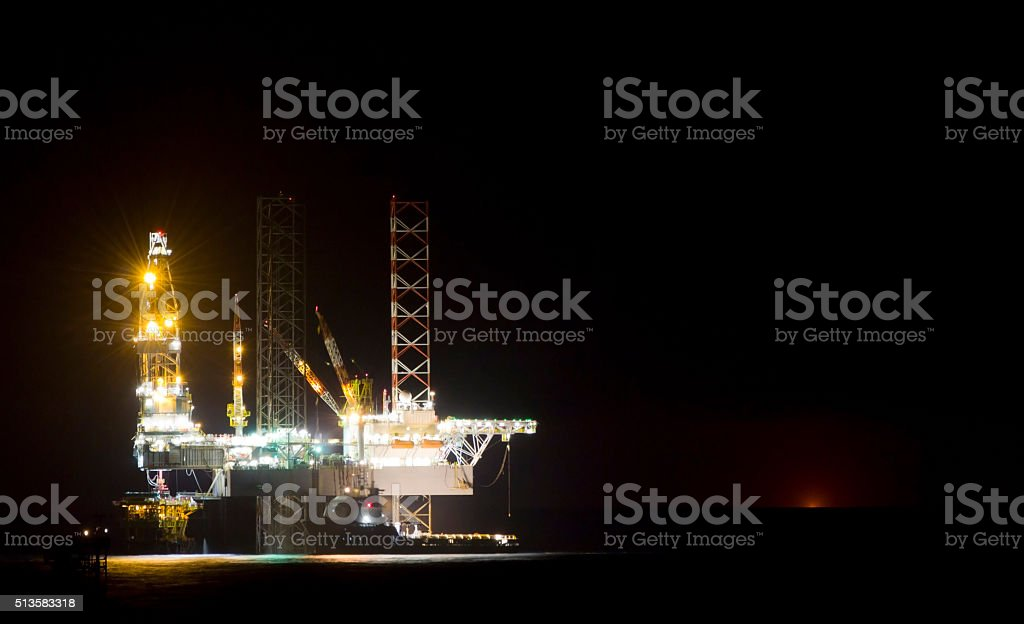 oil-platform stock photo