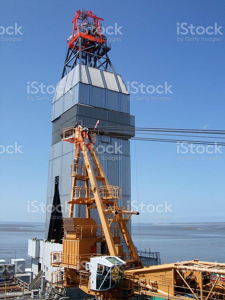 Oilrig drilling derrick royalty-free stock photo