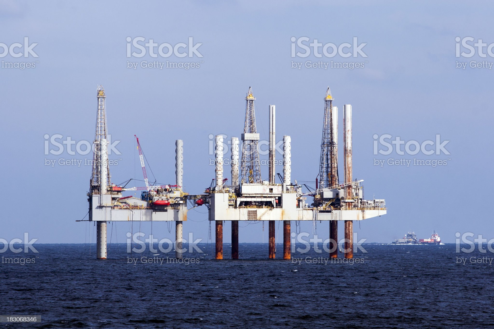 Oilrig in US Gulf royalty-free stock photo