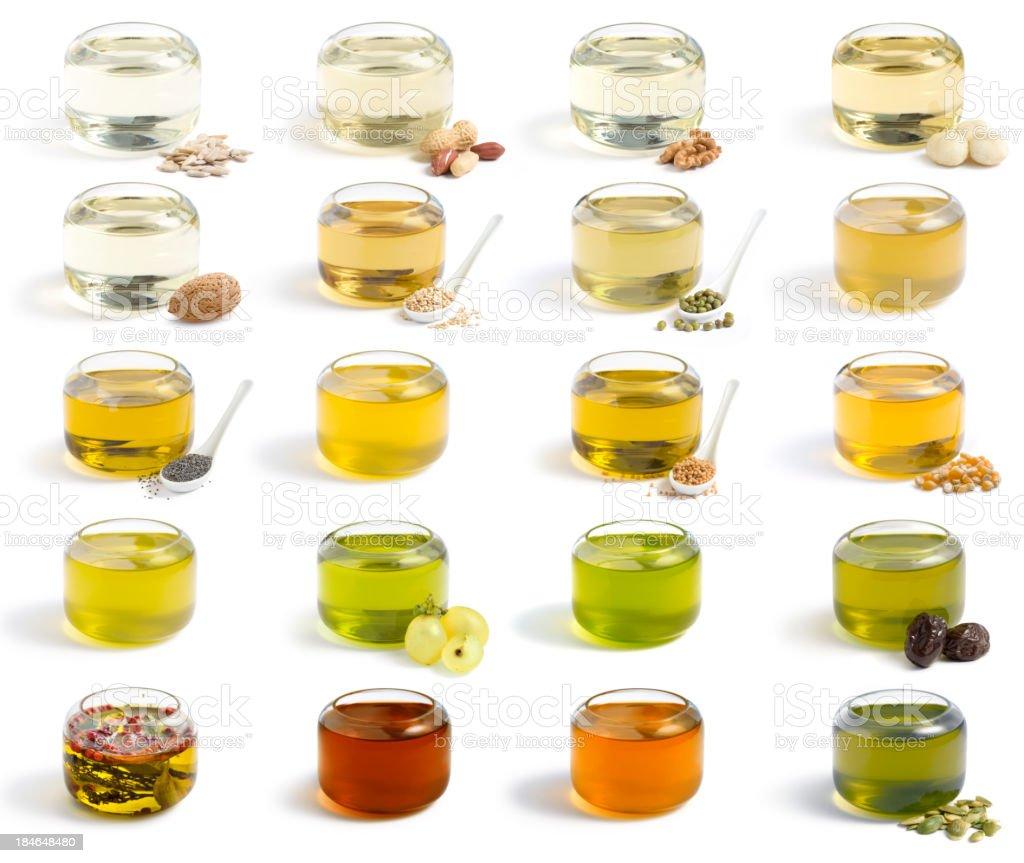 Oils collection. XXXL stock photo