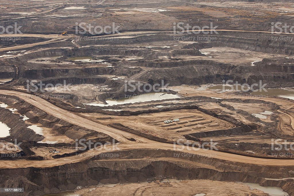 Oilsands Aerial Photo stock photo