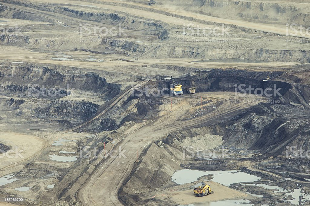 Oilsands Aerial Photo royalty-free stock photo