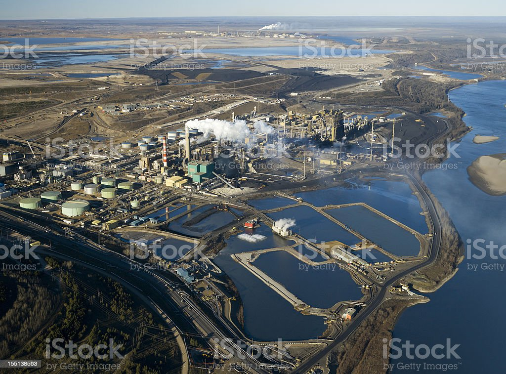 Oilsands Refinery stock photo
