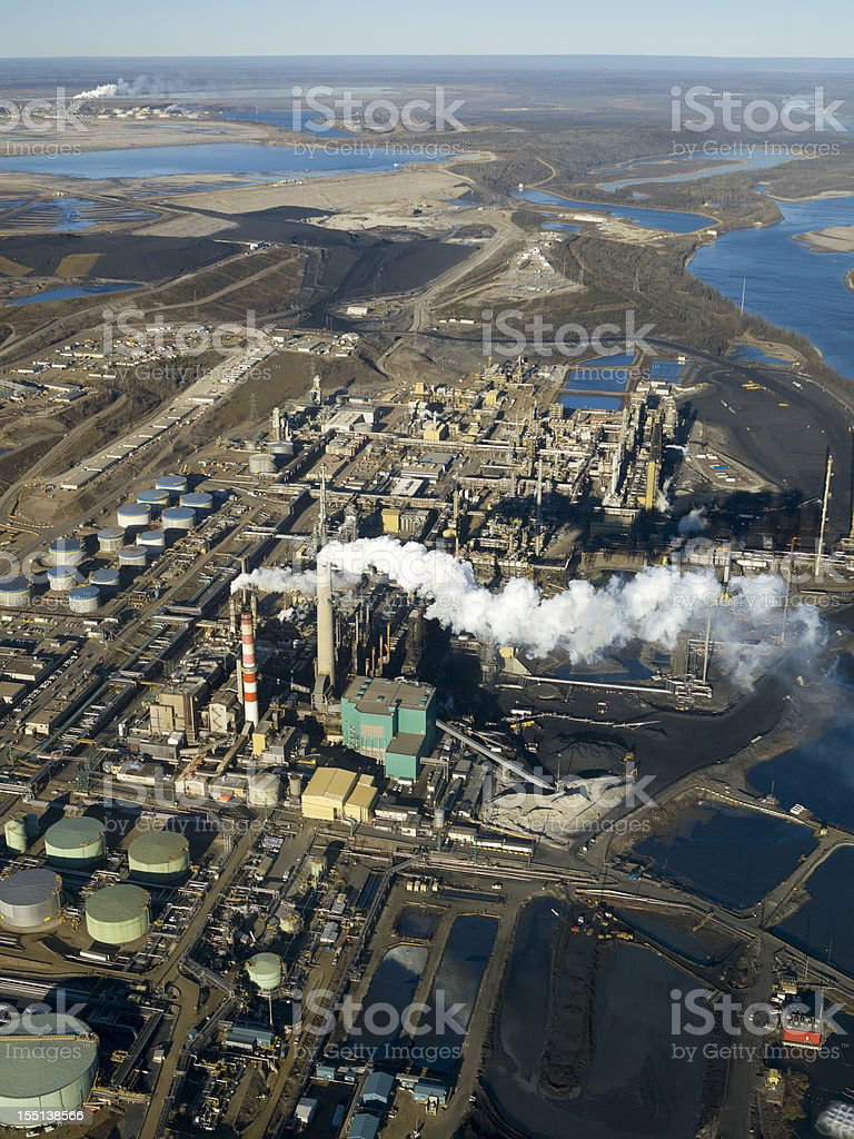 Oilsands Refinery royalty-free stock photo