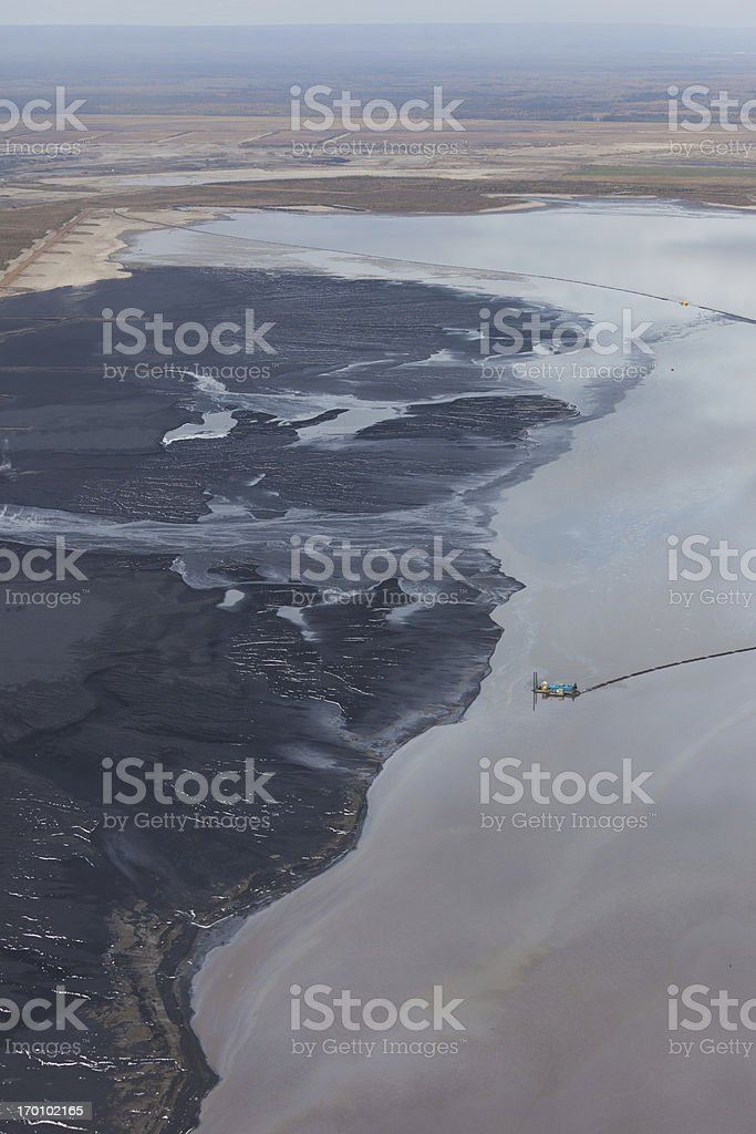 Oilsands Tailings Pond royalty-free stock photo