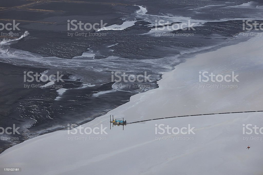 Oilsands Tailings Pond stock photo